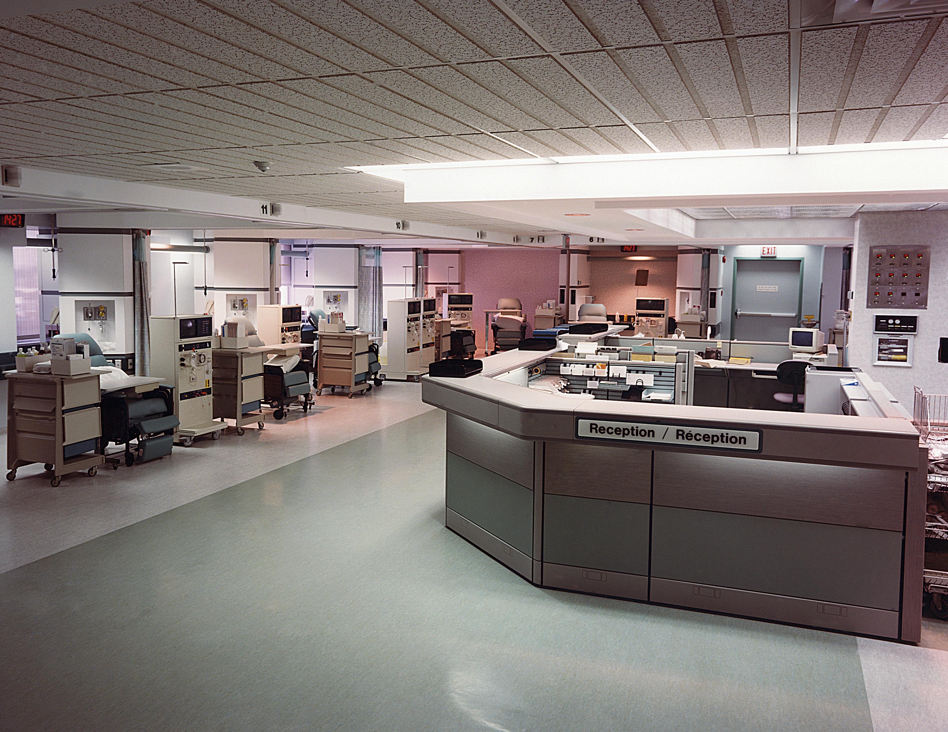Nurses station at hospital clinic